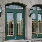 Doors of the Fairmont le Chateau Frontenac by Laurel Talabere