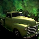 "1950 Chevrolet ""Lime Green"" Pickup Truck by TeeMack"