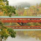 Taftsville Bridge Reflections by Stephen Knowles