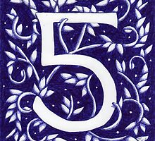 Number Five Blue by Donna Huntriss