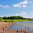 Beach Fun at Carsington Water by Rod Johnson