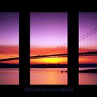 Sunset Over The Forth Road Bridge by Aj Finan