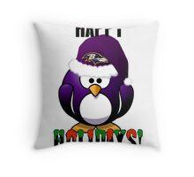Raven's Xmas Throw Pillow