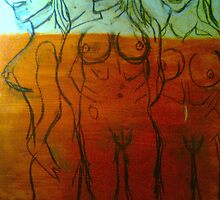 WIP Conceptual.....3 ladies  Cave ART..3000BC.LOL 8 mins in the studio..15/10/10 by tim norman