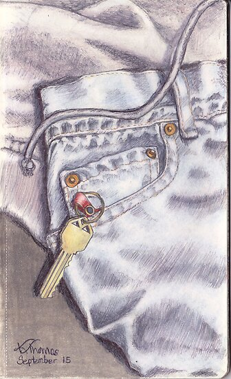 Jeans, Sweatshirt and Key by Katherine Thomas