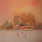 Snow storm on the Marsh - Kent by Beatrice Cloake