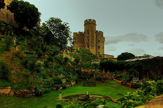 The Moat Garden, Windsor Castle by Andrew S