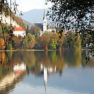 Autumn on Lake Bled by Elena Skvortsova
