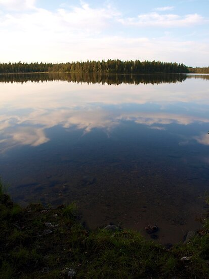 A see-through lake by Janne Keinänen