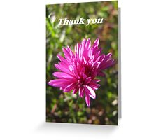 Thank you series: pink dahlia Greeting Card