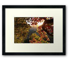 Autumn's Morning Glow, Hawks Bill Crag Framed Print