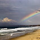Rainbow over Monterey Bay by Clyde  Smith