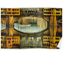 Ponte Vecchio Reflections Poster