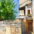 Summer day in Puycelci by Sergei Kurbatov