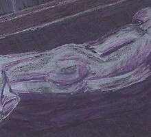 Naked Man Lying- Purple and Black by Kyleacharisse