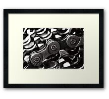 Chain and Sprockets Framed Print