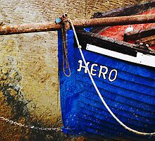 Boat in Sandwich harbour, Kent, UK by buttonpresser