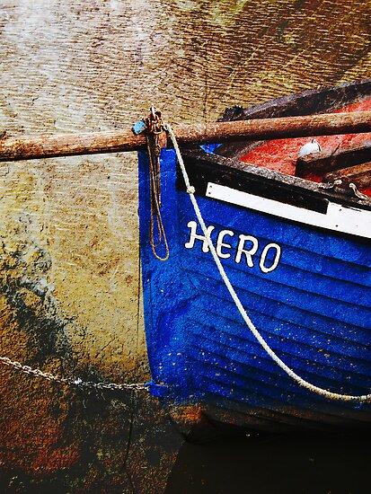 Boat in Sandwich harbour, Kent, UK by buttonpresser