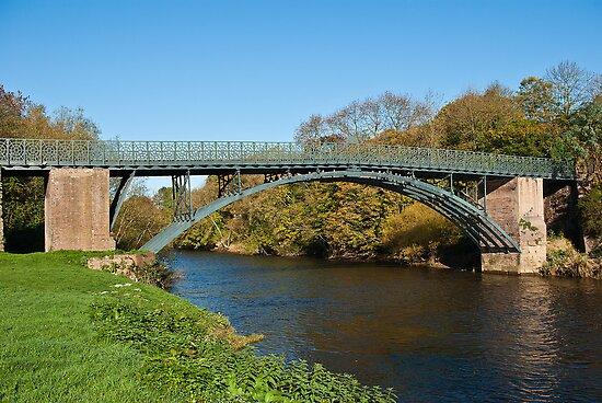 Coalport Bridge as the leaves turn yellow by John Hallett