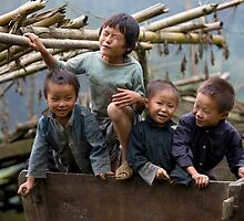 Boys will be boys Sapa Vietnam by Anne Young
