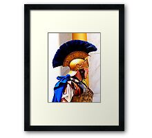 """""""Say the Word"""" Roman Centurion Soldier Officer Ancient Rome New Testament Bible Times Framed Print"""