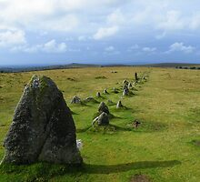 Dartmoor: Merrivale Stone Row by Rob Parsons