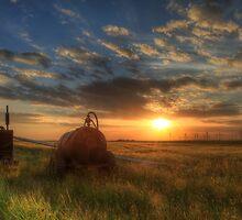 Sundown over the Romney Marsh by Pete Stone