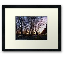 Boundary Between Life and Death Framed Print