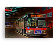 City bus reflections  Canvas Print