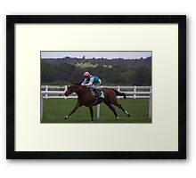 Frankel Stretches Out Framed Print