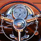 1950 Oldsmobile Rocket 88 Steering Wheel by Jill Reger