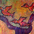 Birds in Flight by Kim  Magee