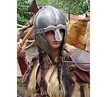 Dark Age Viking Warrior Woman Photographic Print