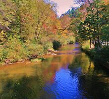 Down River from Grandpa Watts Mill by Chelei
