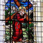 Stained Glass Jesus by Al Bourassa
