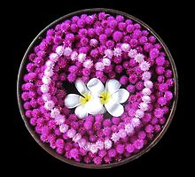 Thai Flowers Floating into a Heart by DAdeSimone