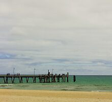 Afternoon on Glenelg Beach by Stephen Mitchell