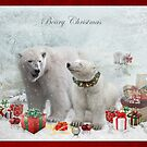 Beary Christmas by Angelgold Art
