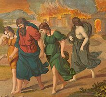 The escape of Lot and family from Sodom. by albutross