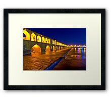 Si-o-Seh Pol - From The Other Side - Esfahan - Iran Framed Print