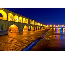 Si-o-Seh Pol - From The Other Side - Esfahan - Iran Photographic Print