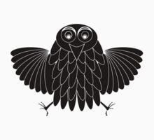 Stylized black owl by Laschon Robert Paul