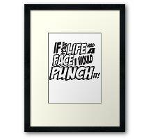 IF your life had a face - Scott pilgrim vs The World Framed Print