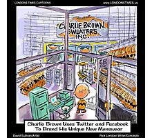 Charlie Brown Decides 2 Brand Image by Londons Times Cartoons Photographic Print
