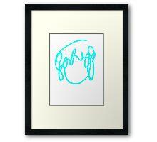 Ramona Flowers Cyan - Scott Pilgrim vs The World Framed Print