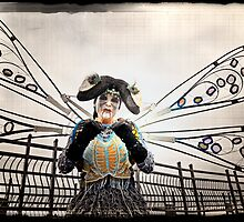 untitled; dragonfly street art performer; california by Tania Palermo