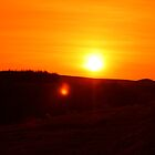 Sunset over Darwen Moors April 2010 by Peter Elliott