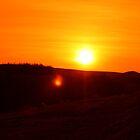 Sunset over Darwen Moors April 2010 by Peter Elliott