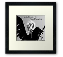 Barbie Conquers the Giant Monsterbird Framed Print