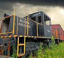 Last Whistle Stop - Old Alaska Train by Ron Day